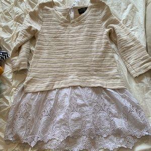 Long lace cream sweater
